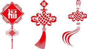 The Chinese knot of vectors Royalty Free Stock Photos