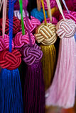 Chinese knots. A piles of Colorful chinese knots Royalty Free Stock Images