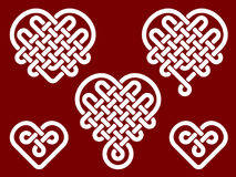 Chinese knots in form of heart Royalty Free Stock Photos