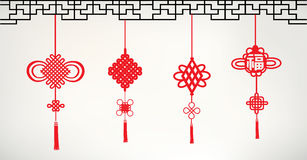 Chinese knots. Set chinese style Stock Images
