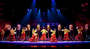 Chinese Korean ethnic dance Royalty Free Stock Photography