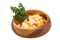 Chinese or korean Yuba (tofu bamboo). On white background Royalty Free Stock Image
