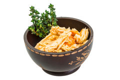 Chinese or korean Yuba (tofu bamboo). On white background Royalty Free Stock Photos