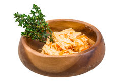Chinese or korean Yuba (tofu bamboo). On white background Stock Images