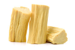Chinese or korean Yuba (tofu bamboo). On white background Stock Photo