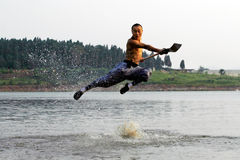 Chinese kung Fu. The true China Shaolin kung fu Stock Photography