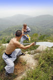 Chinese Kung Fu. The true China Shaolin kung fu Stock Images