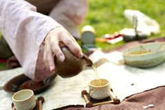 Chinese Kung Fu Tea. Girl make tea is Chinese Kung Fu Tea stock photos