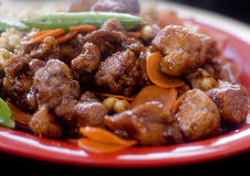 Chinese Kung Pao Chicken Royalty Free Stock Images