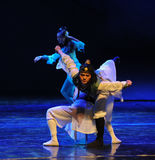 Chinese kungfu-The dance drama The legend of the Condor Heroes. In December 2, 2014, a large Chinese dance drama the legend of the Condor Heroes for the first Stock Photos