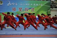 CHINESE KUNGFU, WARE VECHTSPORTEN royalty-vrije stock afbeelding