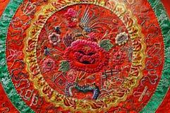 Chinese kunst: borduurwerk stock foto