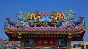 Chinese kunst in de Chinese cultuur van Thailand Stock Afbeeldingen