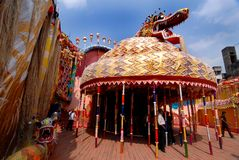 Chinese Kunst tijdens Festival Durga Royalty-vrije Stock Afbeelding