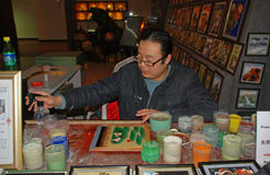 Chinese kunstenaar in Peking, China Royalty-vrije Stock Foto
