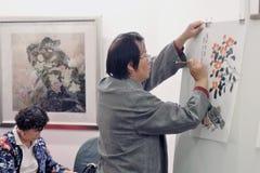 Chinese kunstenaar Yan Duntsyan royalty-vrije stock afbeeldingen