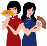 Chinese ladies Stock Image