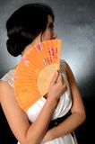 Chinese lady with fan Royalty Free Stock Photos