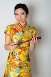 Chinese lady with fan Royalty Free Stock Images