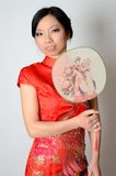 Chinese lady with fan Stock Image