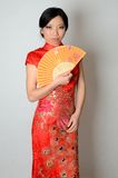 Chinese lady with fan Stock Photography