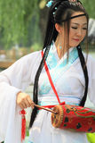 Chinese lady in traditional costumes Stock Image