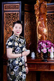 Chinese lady, traditionally dressed Royalty Free Stock Photo