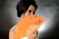 Free Chinese Lady With Fan Royalty Free Stock Photos - 39305808