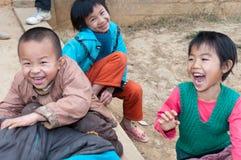 Chinese lage schoolstudenten royalty-vrije stock foto's