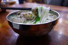 Chinese lamb rice noodle soup. Chinese mutton rice vermicelli soup royalty free stock photography