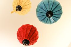 Chinese lamp beautiful vietnamese lanterns Stock Photo