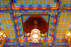 Chinese lamp and ceiling temple, Wat Leng-Noei-Yi ,Thailand Stock Photo