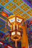 Chinese lamp and ceiling temple, Wat Leng-Noei-Yi ,Thailand Stock Image
