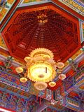 Chinese lamp design. Chinese Lanterns with colorful wall Stock Photography