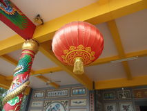 Chinese lamp. I went to this temple on sunday Royalty Free Stock Photography
