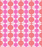 Chinese lamps seamless pattern. Stock Image