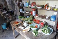 Chinese landbouwers` s keuken, rgb adobe stock afbeeldingen