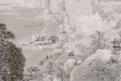 Chinese landscape royalty free illustration