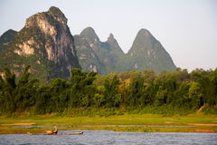 Chinese landscape, Li river, China Stock Photo