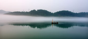 Chinese landscape painting. The image likes chinese landscape painting royalty free stock image