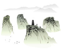 Chinese landscape painting Stock Photo