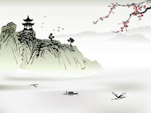 Chinese landscape painting Royalty Free Stock Images