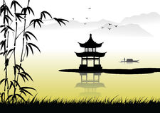 Chinese landscape painting Royalty Free Stock Photography