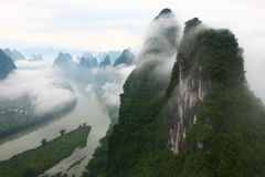 Chinese landscapes,Guilin. The Wanxiangshan mount,Guilin China Royalty Free Stock Image