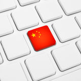 Chinese language or China web concept. National flag button or k Royalty Free Stock Images
