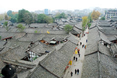 Chinese langzhong  old town Royalty Free Stock Photo