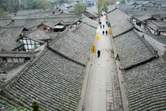 Chinese langzhong  old town Royalty Free Stock Image