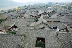 Chinese langzhong  old town Stock Photo