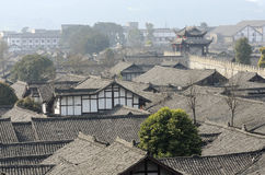 Chinese langzhong old town Royalty Free Stock Images