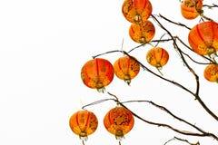 Chinese lantaarn op een witte achtergrond royalty-vrije stock foto
